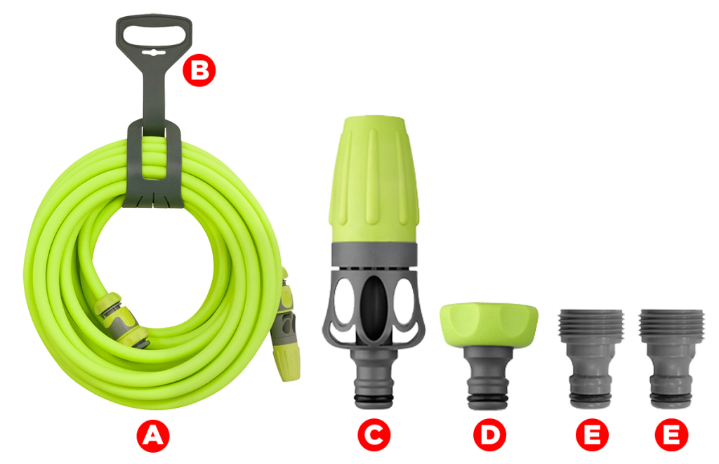Garden Hose Kit with Quick Connect Attachments FLEXZILLA Premium