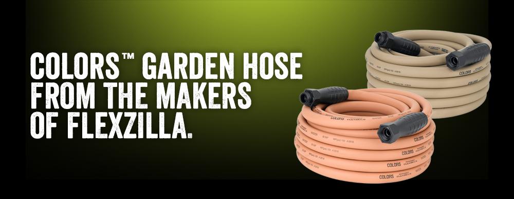 Colors Garden Hose featuring SwivelGrip FLEXZILLA Premium